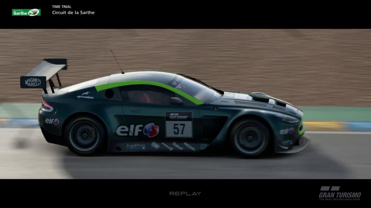 Gran Turismo®SPORT Gameplay PS4 (Aston Martin V12 Vantage GT3   Circuit de la Sarthe)