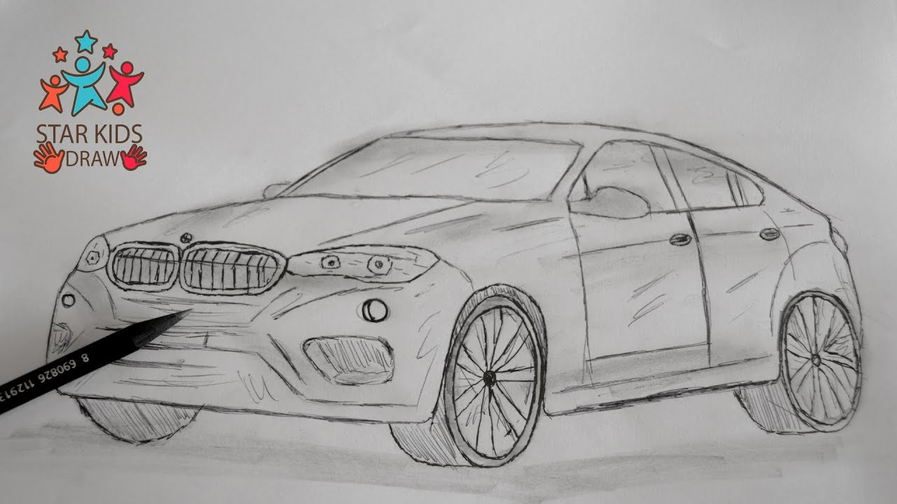 How to Draw Car BMW X6