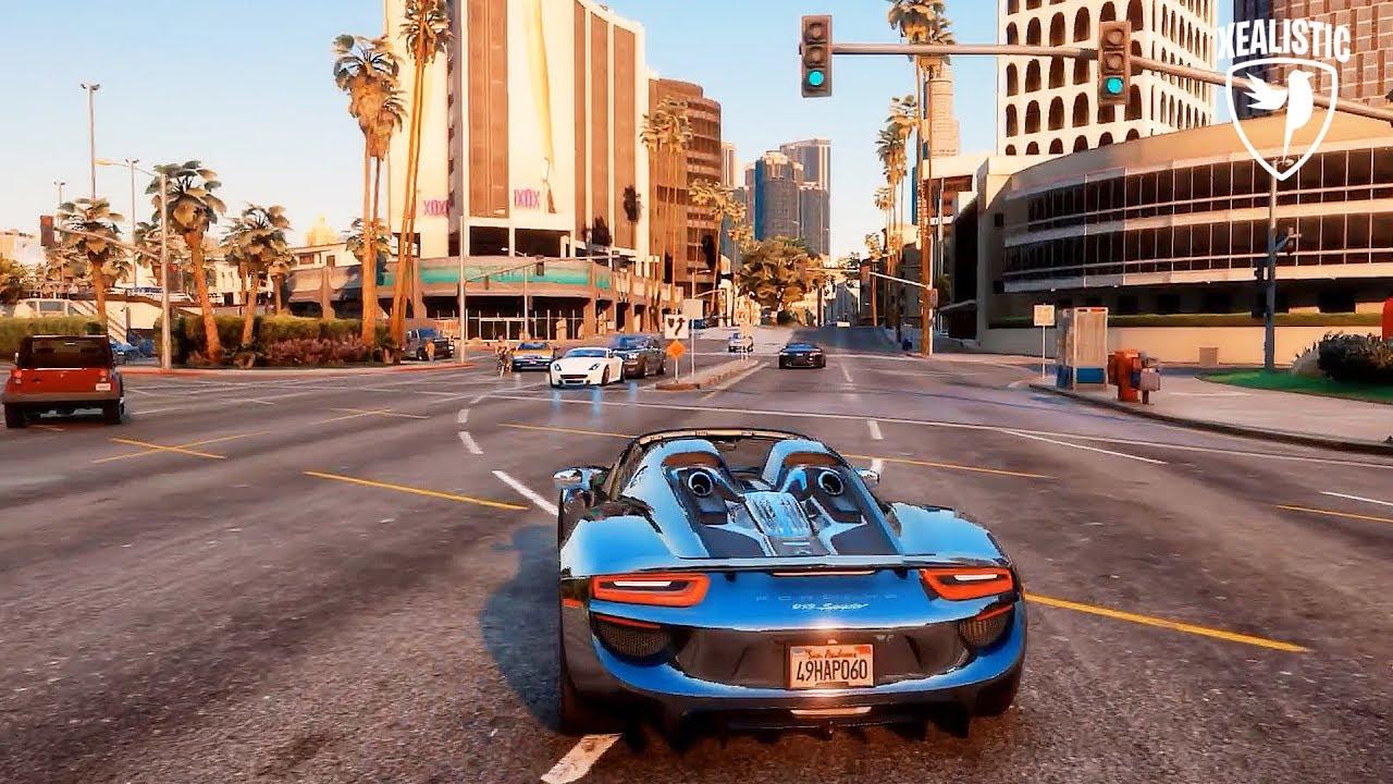 Porsche 918 Spyder - GTA 5 Ultra-Realistic Graphics Mods | Realistic Driving Gameplay