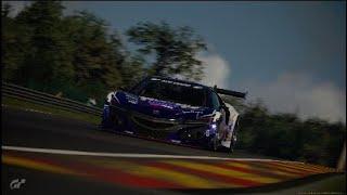 【#グランツーリスモ】 スパ・フランコルシャン HONDA NSX Gr.3 2分20秒台 コントローラだけどタイムアタック頑張る