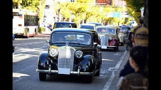 まるで動く自動車博物館…八王子いちょう祭りクラシックカーパレード
