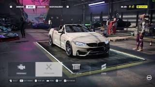 NFS Heat | BMW M4 Convertible 2018 Fully Upgraded 400+ | Gameplay