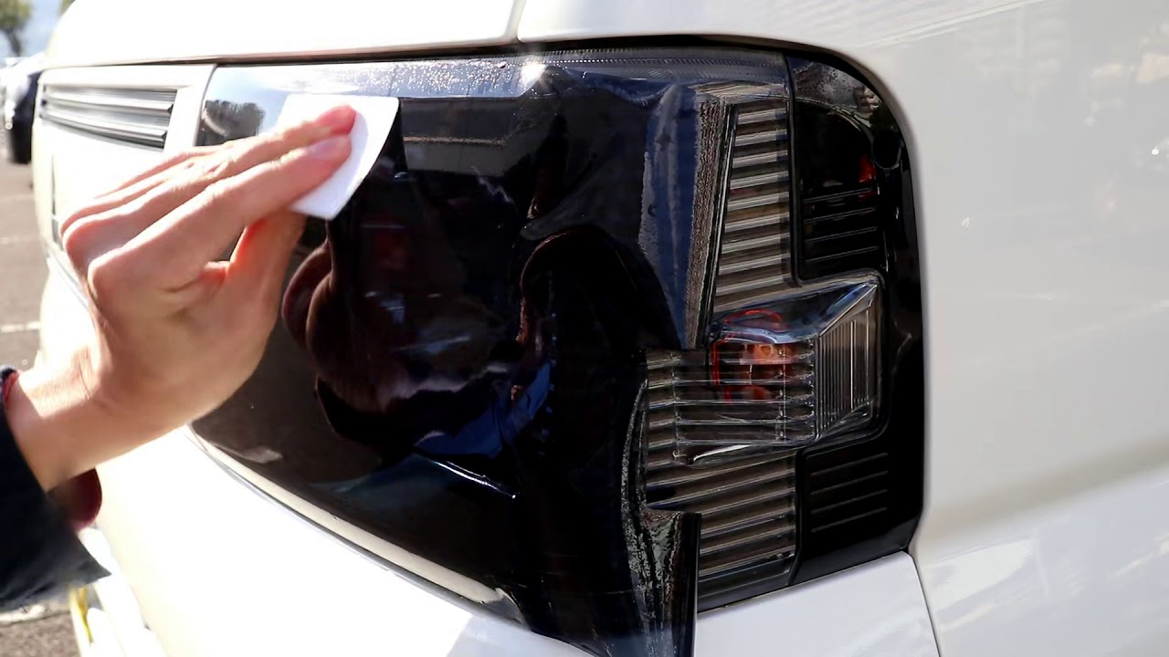 Tint+(ティントプラス) 三菱 ミニキャブ U61V中期用 ヘッドライト スモークフィルム