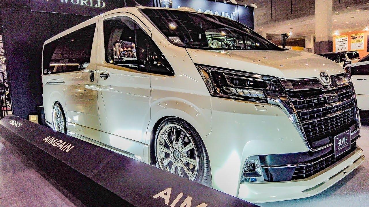 (4K)エイムゲイン グランエース カスタム 純VIP エアロ AIMGAIN TOYOTA GRANACE modified - 大阪オートメッセ2020