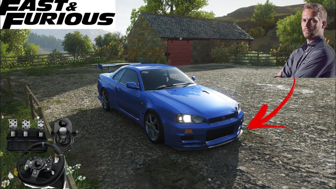 Forza Horizon 4 - Nissan Skyline GTR R34 - Volante Logitech g920 | Gameplay
