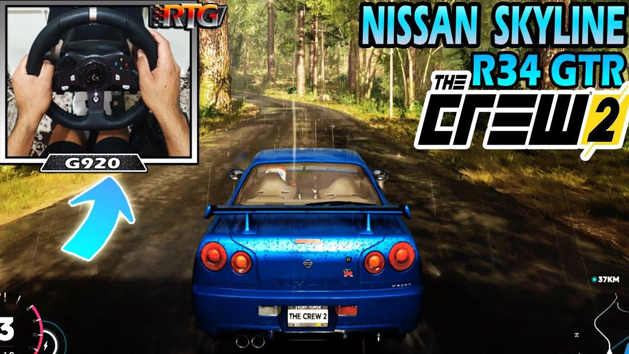 Nissan Skyline R34 GTR - The Crew 2 | Logitech g920 Steering Wheel + Shifter Gameplay