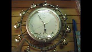 故障 メルヘンな世界 リズム からくり時計 観覧車 電池液漏れで修理不能