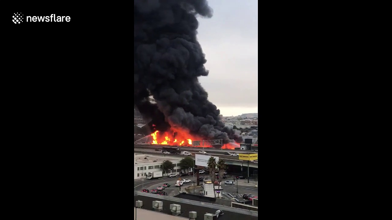 Shocking 5-alarm fire engulfs six buildings in San Francisco
