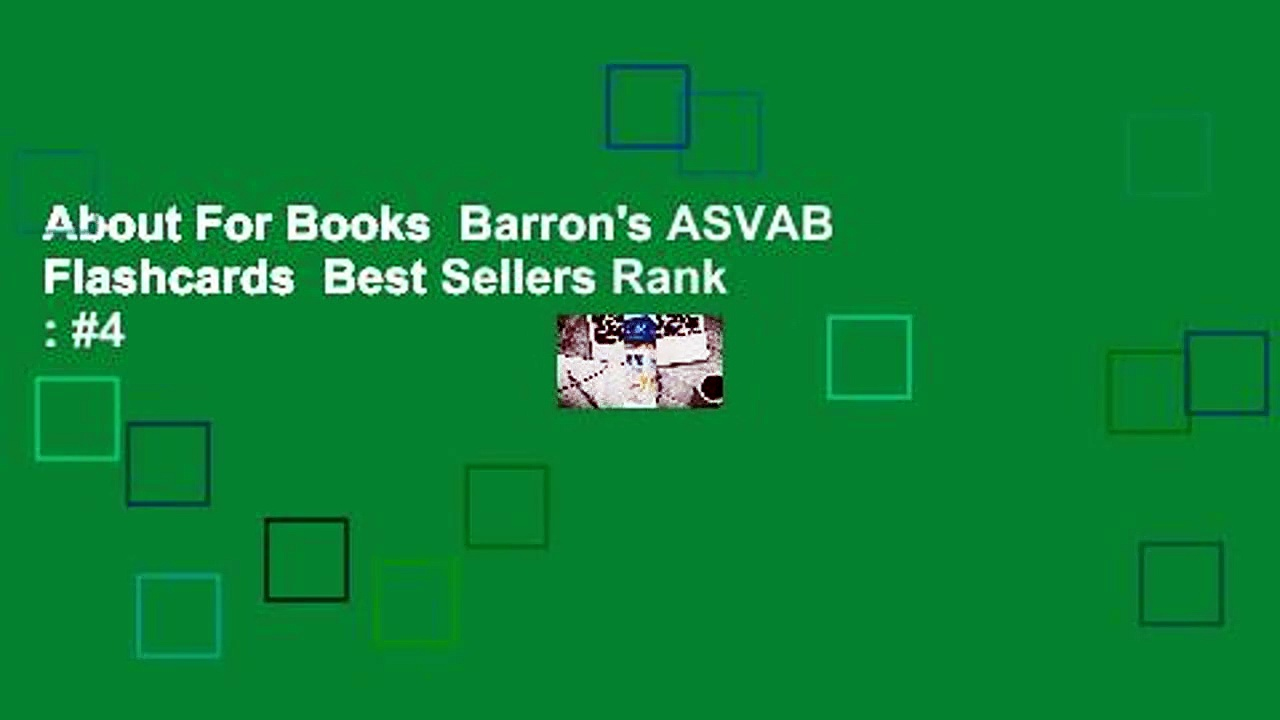 About For Books  Barron's ASVAB Flashcards  Best Sellers Rank : #4