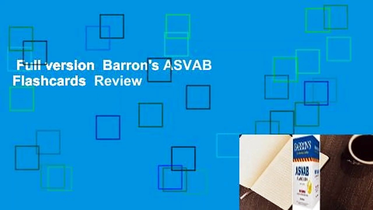 Full version  Barron's ASVAB Flashcards  Review