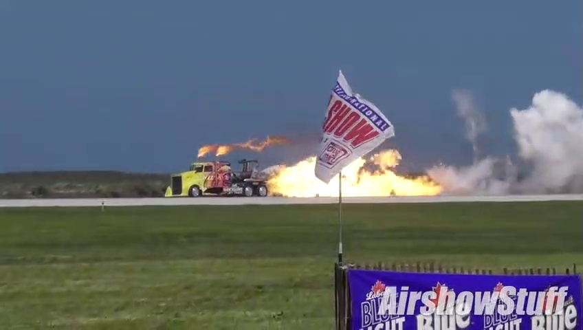 Shockwave car Jet Truck_Airplane Drag Race - Cleveland National Airshow