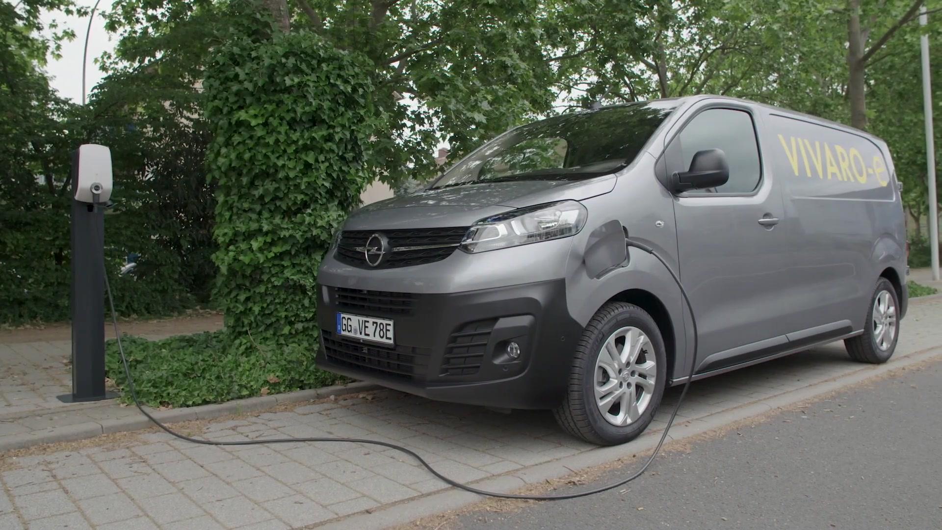 The new Opel Vivaro-e Van at charging station