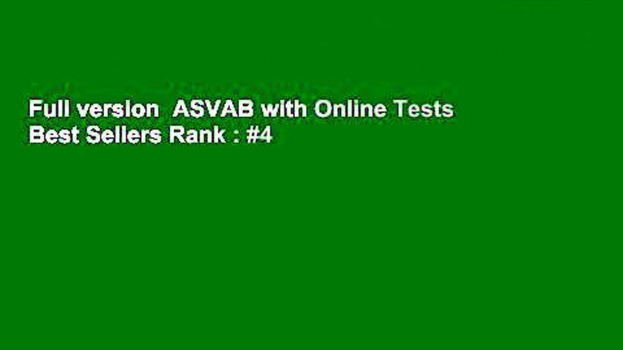 Full version  ASVAB with Online Tests  Best Sellers Rank : #4