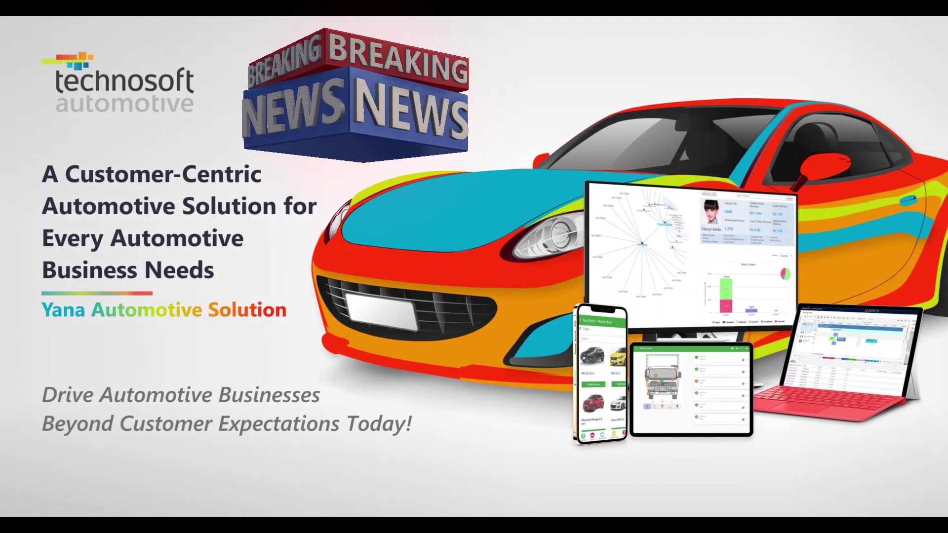 Breaking News - Introducing an Excellent Global Automotive Team | Yana Automotive Solution | Dealer Management System (DMS) | Technosoft Automotive